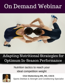 Adapting Nutritional Strategies for Optimum In-Season Performance for Wrestlers